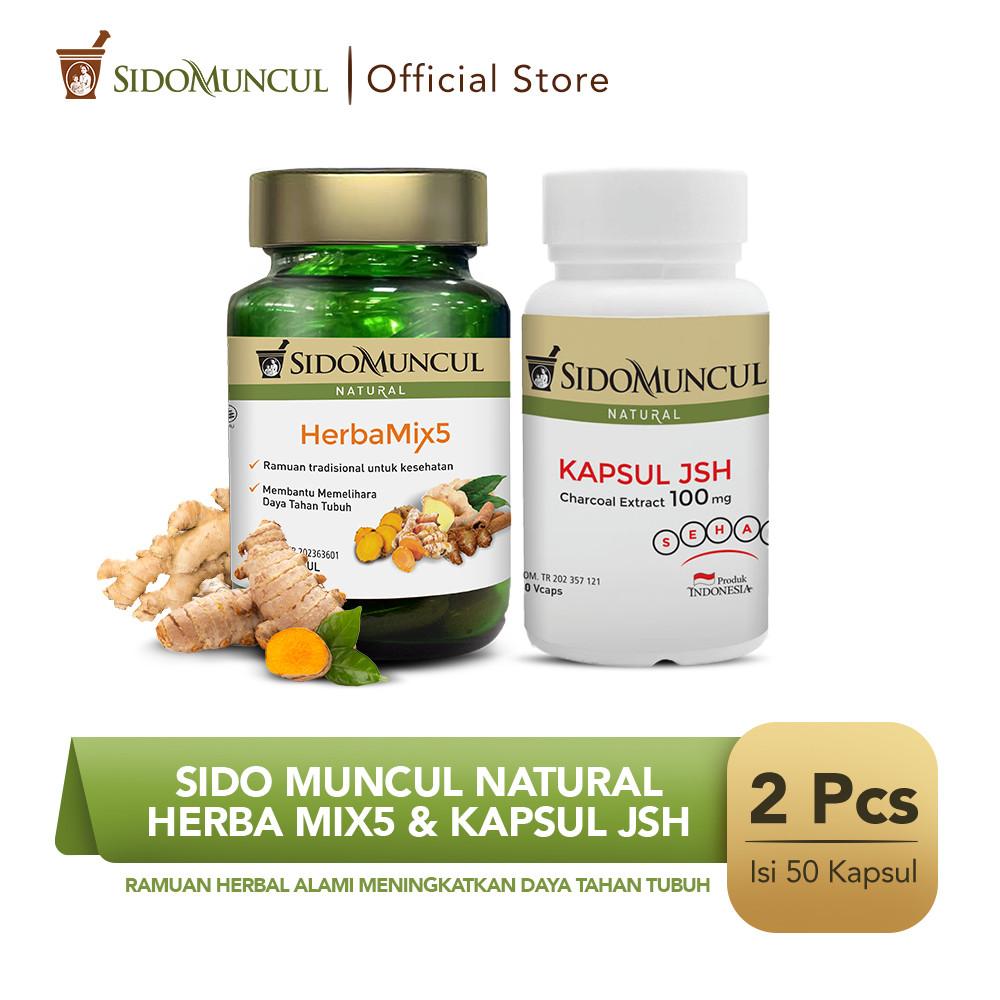 Sido Muncul Natural HerbaMix5 + Kapsul JSH (50'k) - Menjaga Imunitas