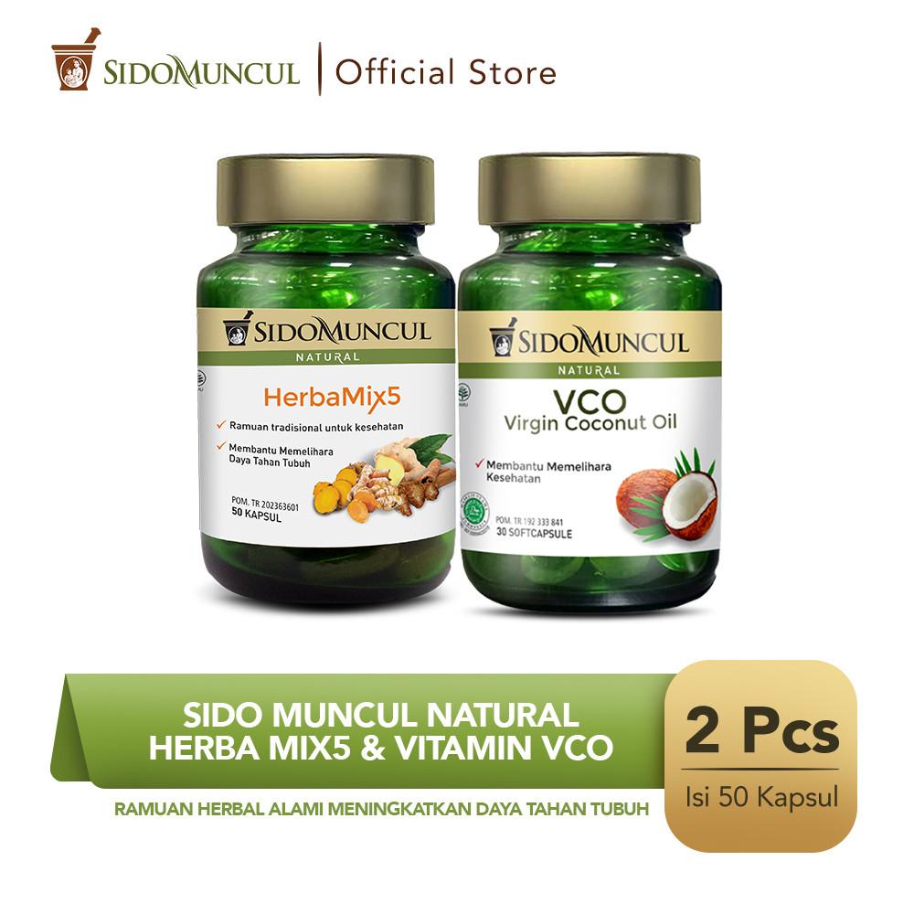 Sido Muncul Natural HerbaMix5 + Virgin Coconut Oil Soft Capsule