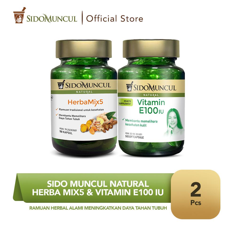 Sido Muncul Natural HerbaMix5 + Vitamin E 100 IU Soft Capsule