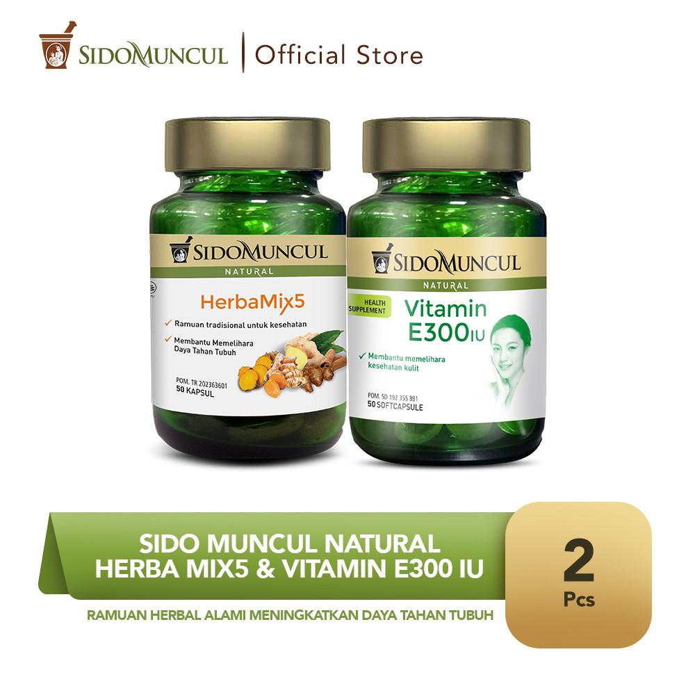 Sido Muncul Natural HerbaMix5 + Vitamin E 300 IU Soft Capsule