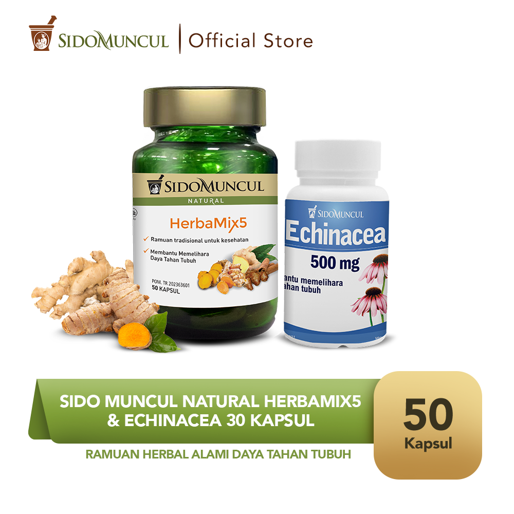 Sido Muncul Natural HerbaMix5 + Sido Muncul Herbal Echinacea 30'k