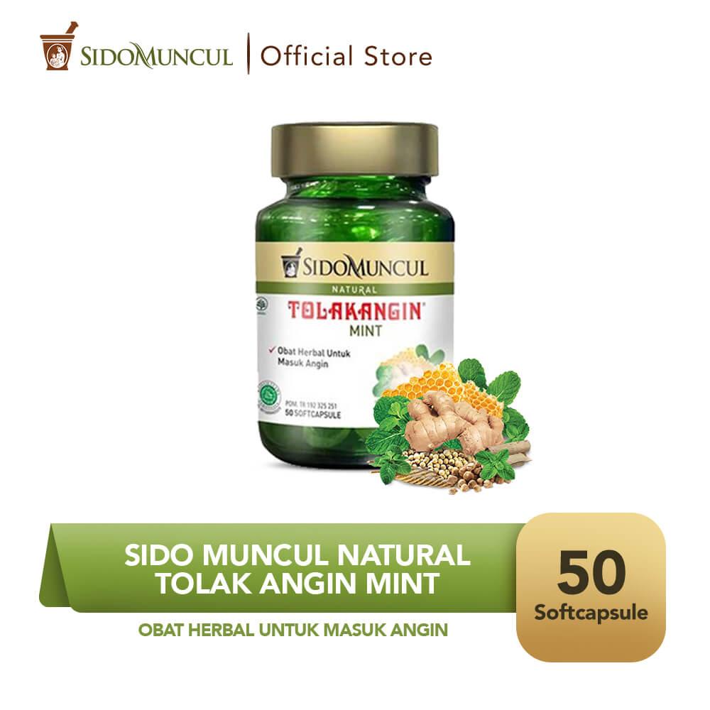 Sido Muncul Natural Tolak Angin Mint Soft Capsule 50 Kapsul
