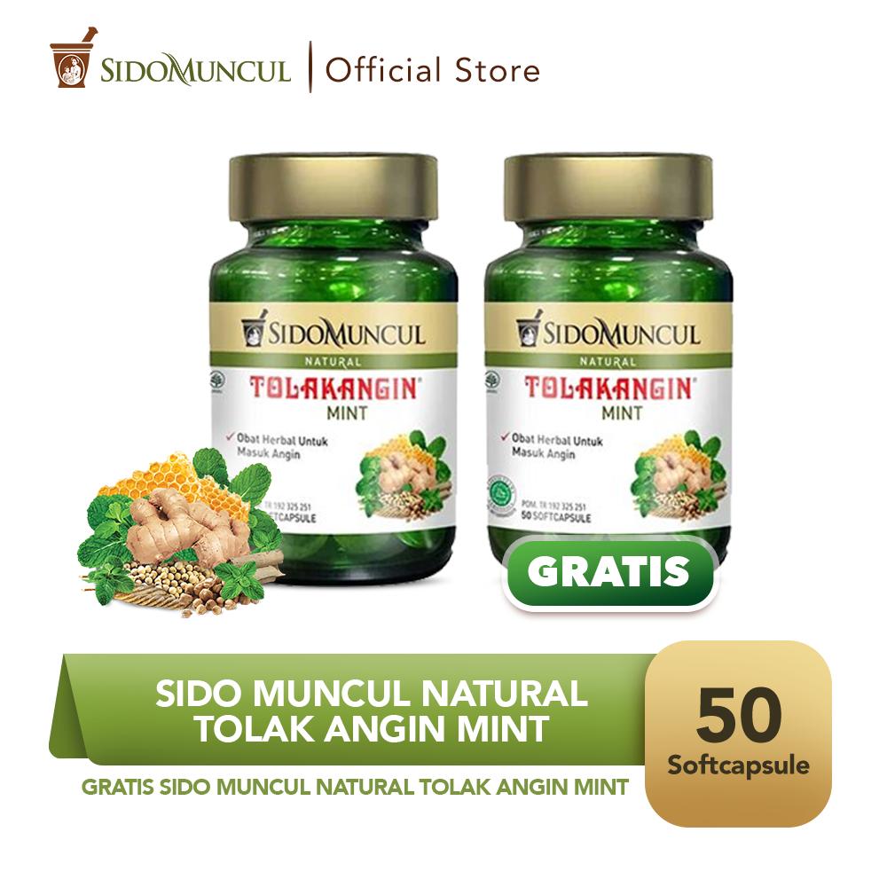 Sido Muncul Natural Tolak Angin Mint Soft Capsule 50'k - Buy 1 Get 1