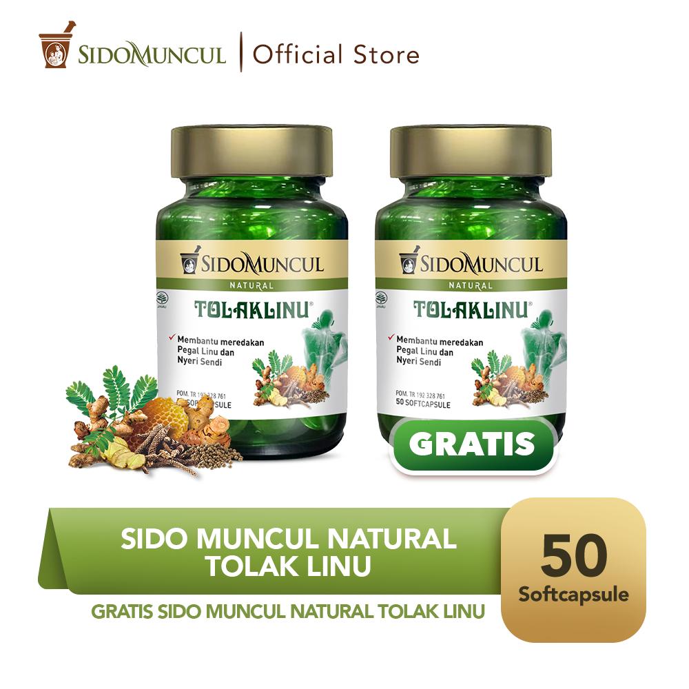 Sido Muncul Natural Tolak Linu Soft Capsule 50 Kapsul - Buy 1 Get 1