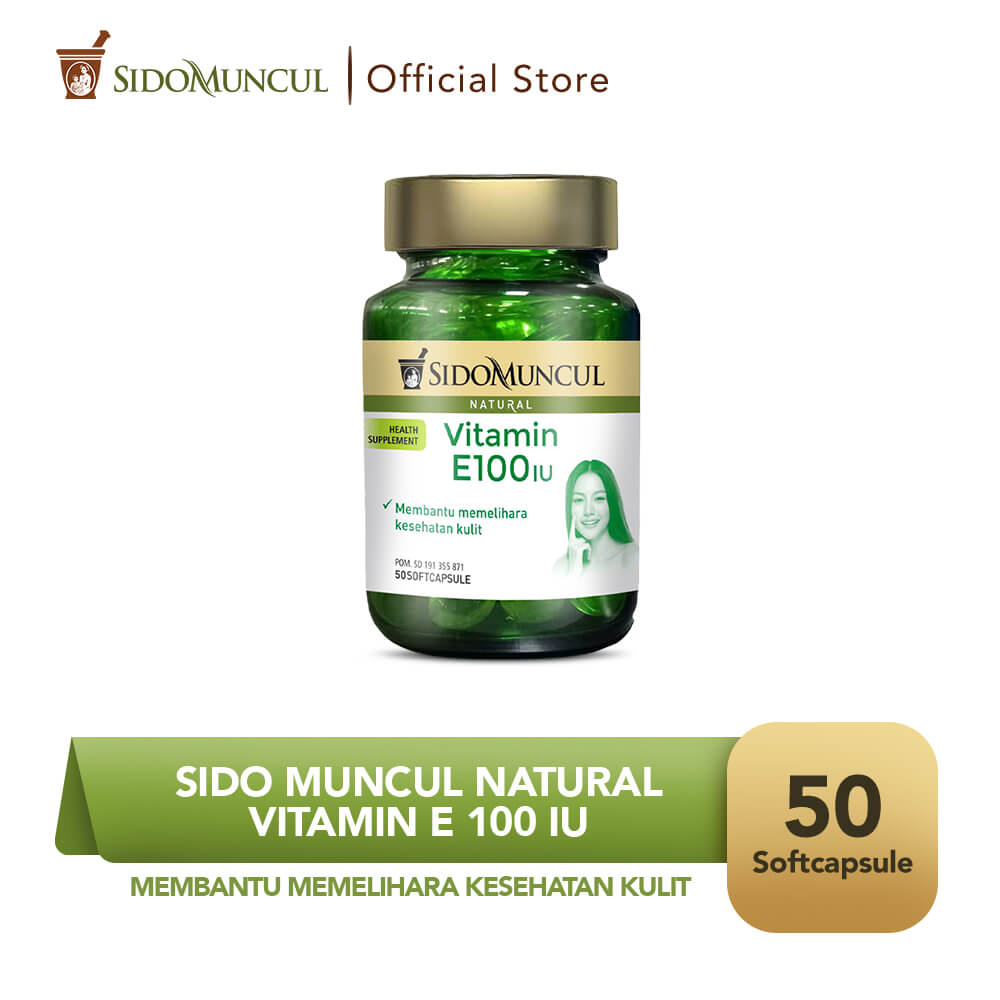 Sido Muncul Natural Vitamin E 100 IU Soft Capsule 50 Kapsul