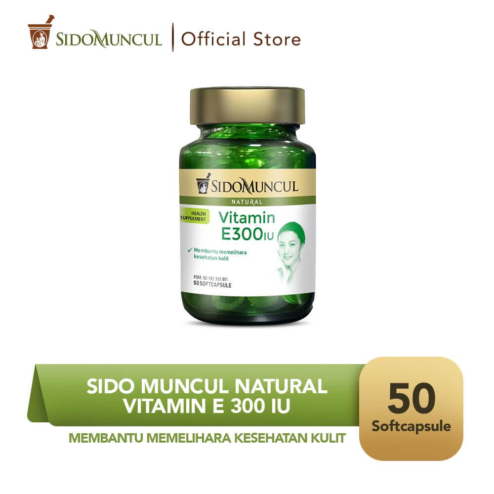 Sido Muncul Natural Vitamin E 300 IU Soft Capsule 50 Kapsul