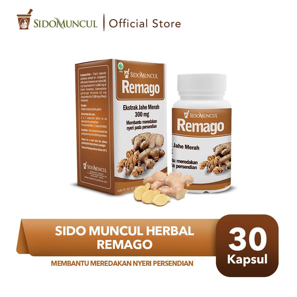 Sido Muncul Remago Herbal - Rematik Nyeri Sendi Bengkak Migrain