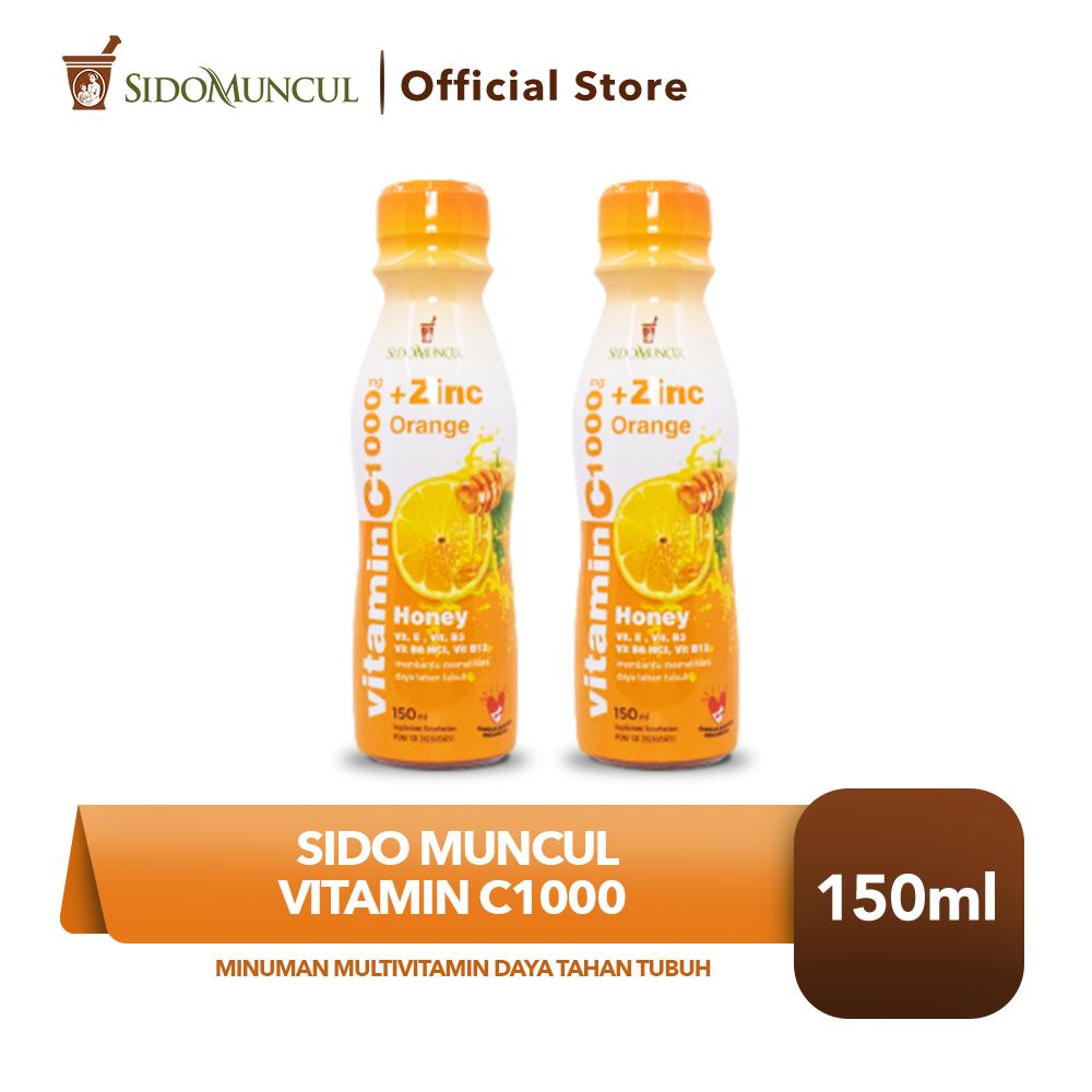 Sido Muncul Vit C1000 2x150 ml Minuman Multivitamin Daya Tahan Tubuh
