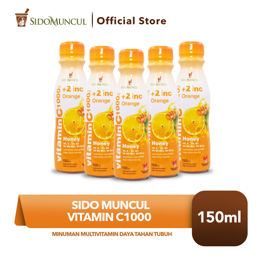 Sido Muncul Vit C1000 5x150 ml Minuman Multivitamin Daya Tahan Tubuh