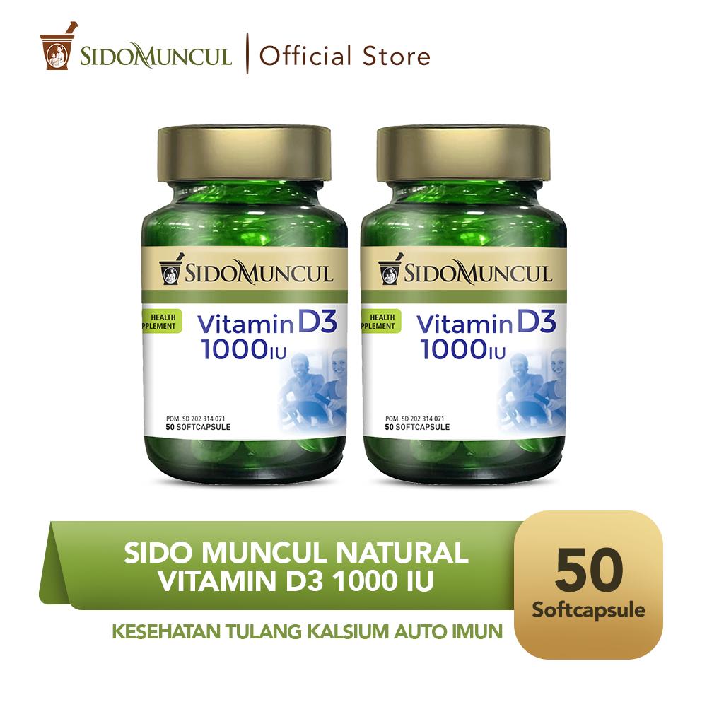 Sido Muncul Vitamin D3 1000 IU Kesehatan Tulang Kalsium Auto Imun 2x