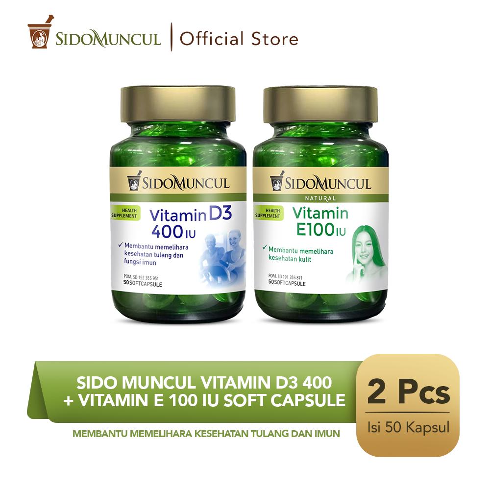 Sido Muncul Vitamin D3 400 + Vitamin E 100 IU Soft Capsule