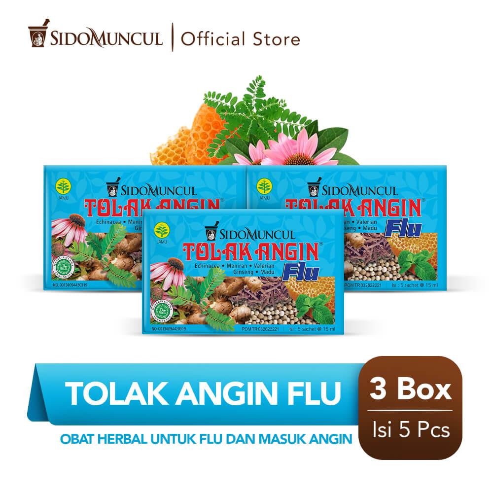 Tolak Angin Flu Cair Dus 3x5's Herbal - Flu Batuk Demam Pusing