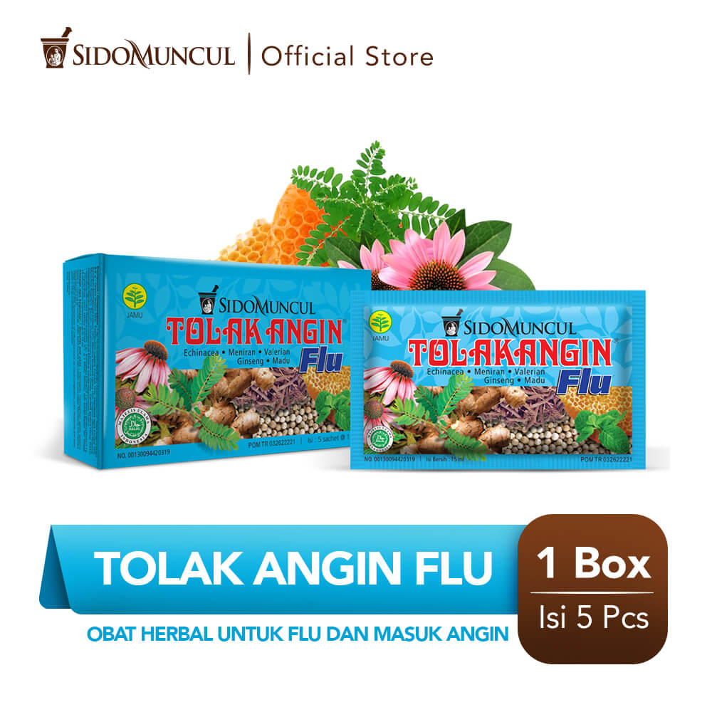 Tolak Angin Flu Cair Dus 5's Herbal - Flu Batuk Demam Pusing