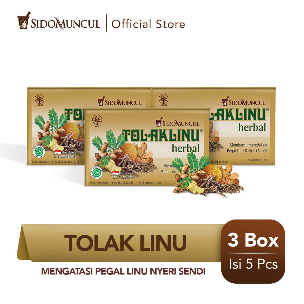 Tolak Linu Cair Dus 3x5's Herbal Alami - Pegal Linu Nyeri Sendi
