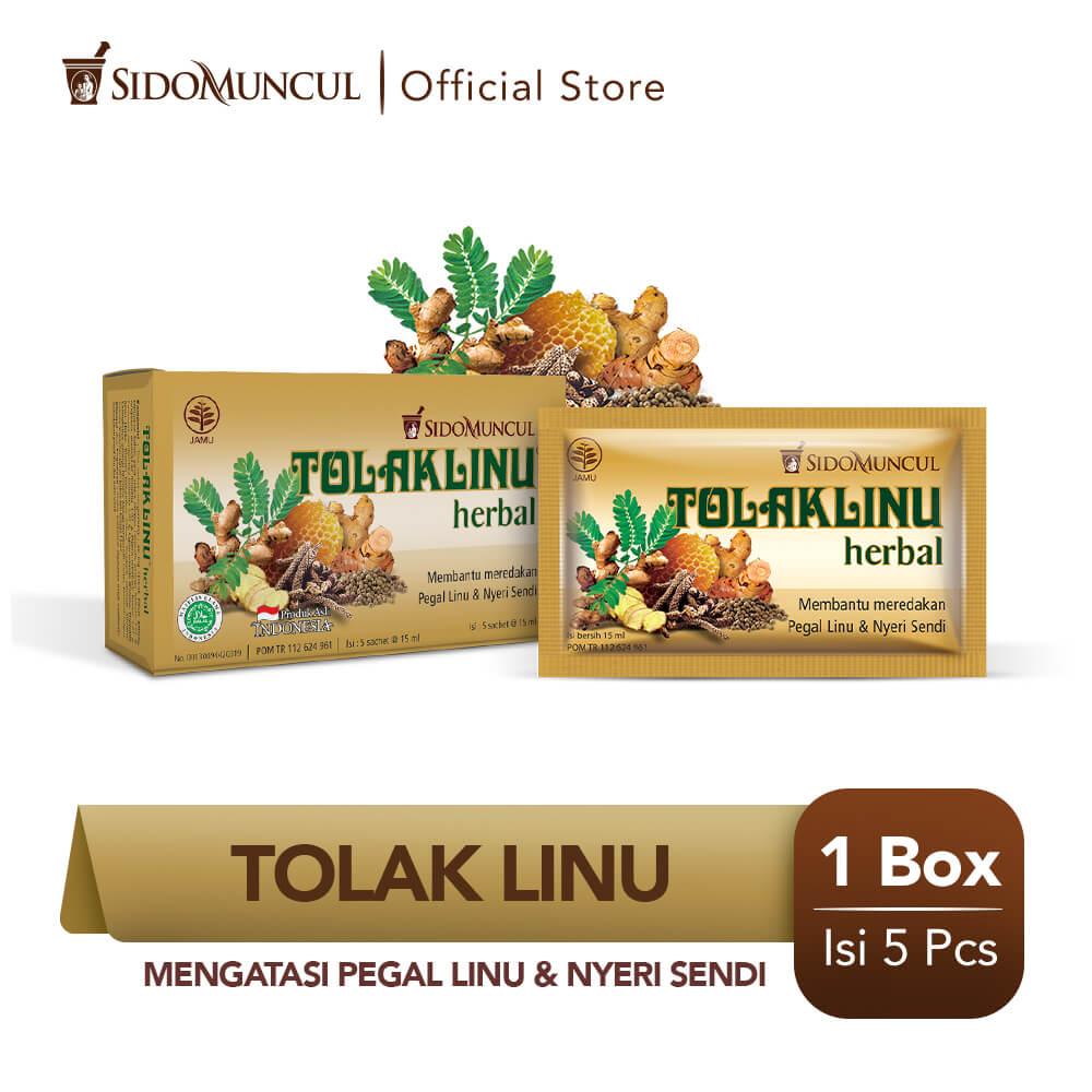 Tolak Linu Cair Dus 5's Herbal Alami - Pegal Linu Nyeri Sendi