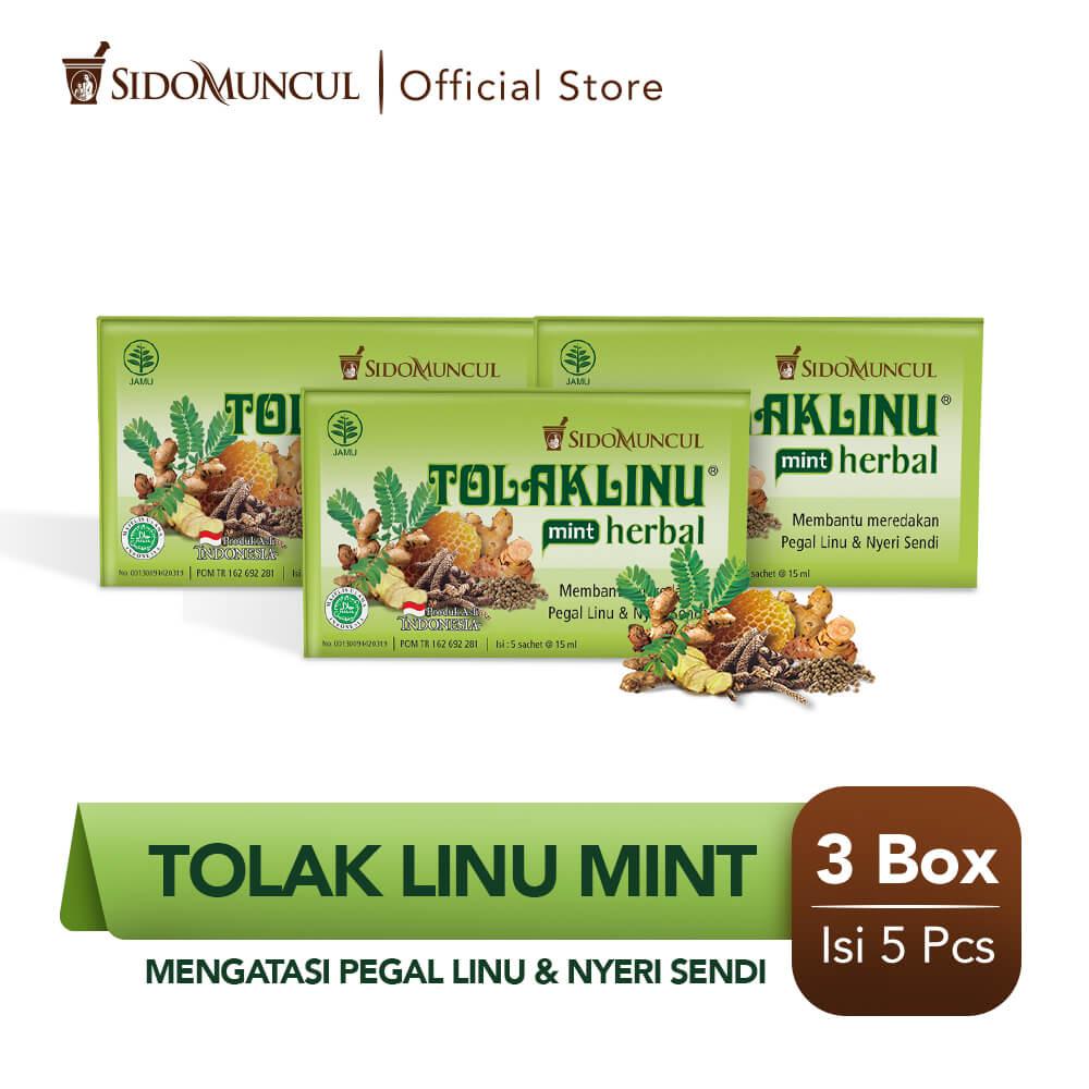 Tolak Linu Mint Cair Dus 3x5's Obat Herbal - Pegal Linu Nyeri Sendi