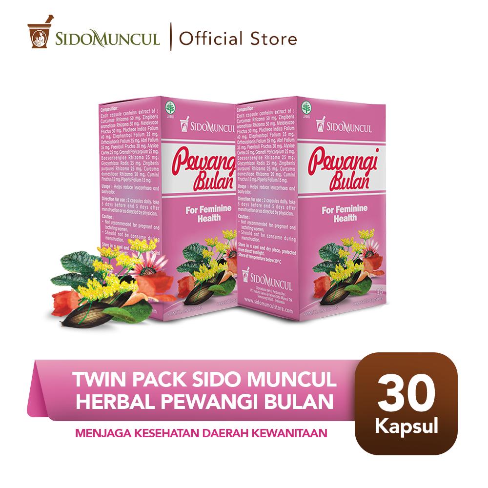 Twin Pack Sido Muncul Herbal Pewangi Bulan 30 Kapsul - Keputihan
