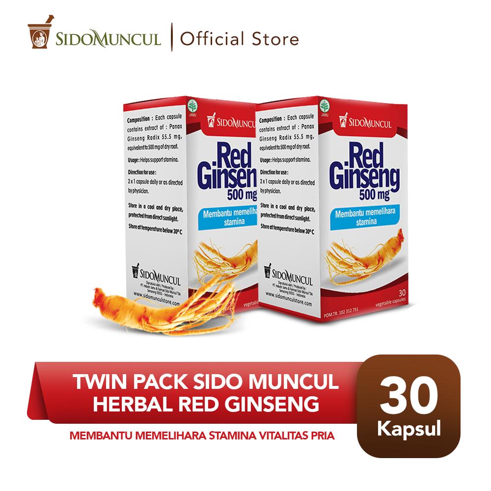 Twin Pack Sido Muncul Herbal Red Ginseng 30'k - Membantu Stamina Pria