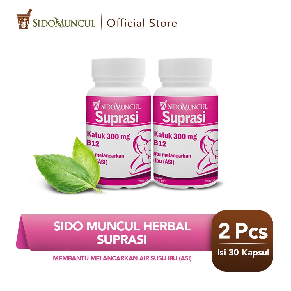 Twin Pack Sido Muncul Herbal Suprasi 30 Kapsul - Daun Katuk ASI