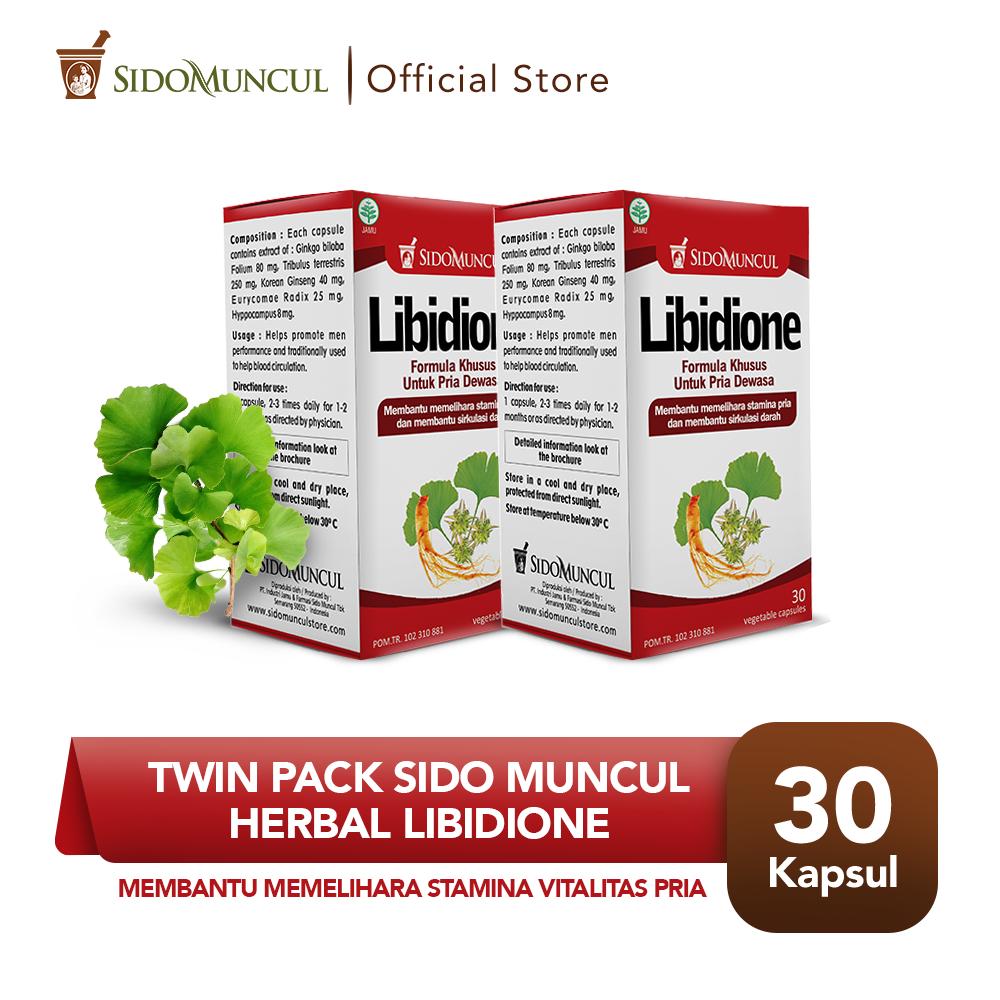 Twin Pack Sido Muncul Libidione 30'k - Herbal Pria Stamina Vitalitas