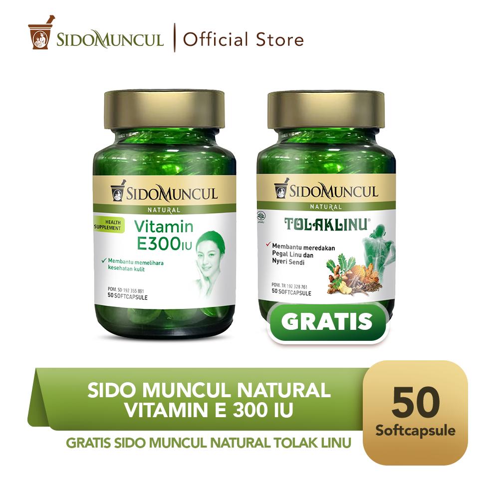 Vitamin E 300 IU Soft Capsule 50'k - FREE Tolak Linu Soft Capsule 50'k